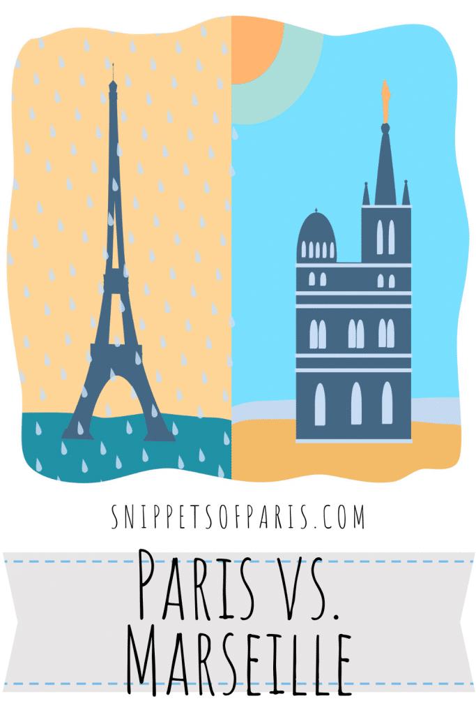 Paris vs Marseille pin for pinterest
