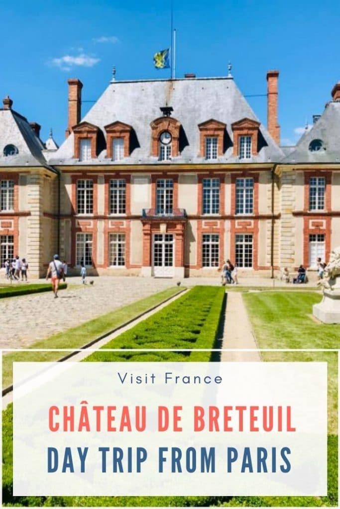 Chateau de Breteuil outside Paris, France pin for pinterest