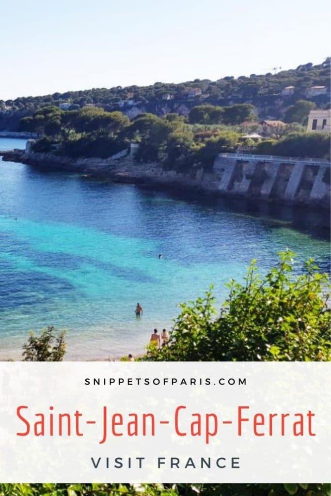Things to do in Saint-Jean-Cap-Ferrat pin for pinterest