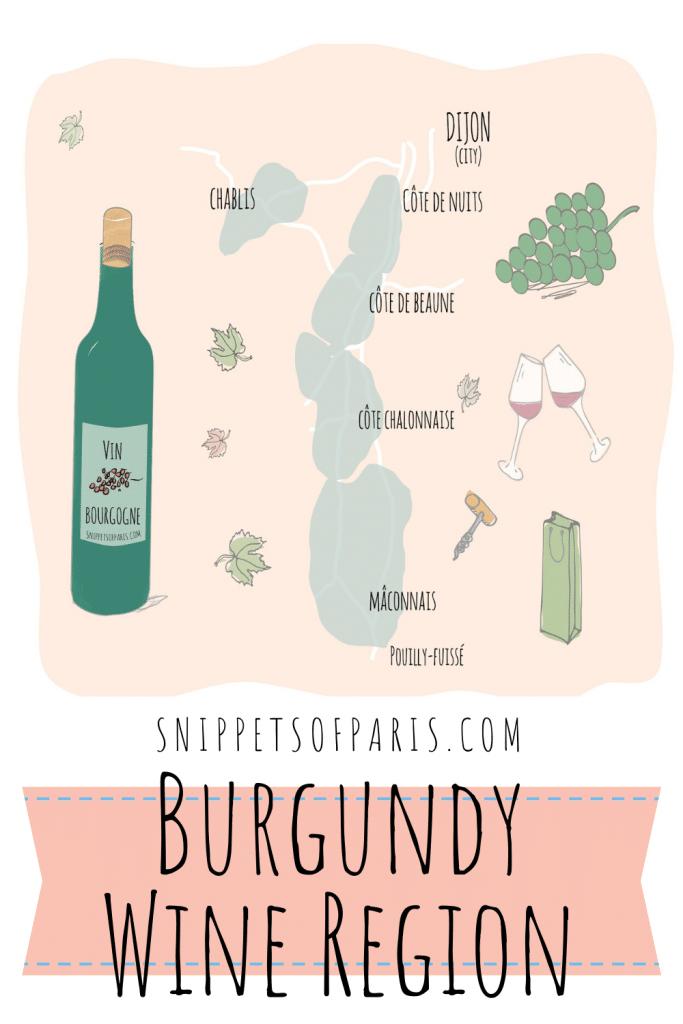 Burgundy wine region map