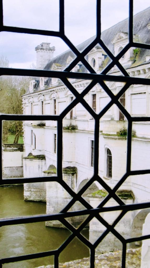 View from the window at Château de Chenonceau