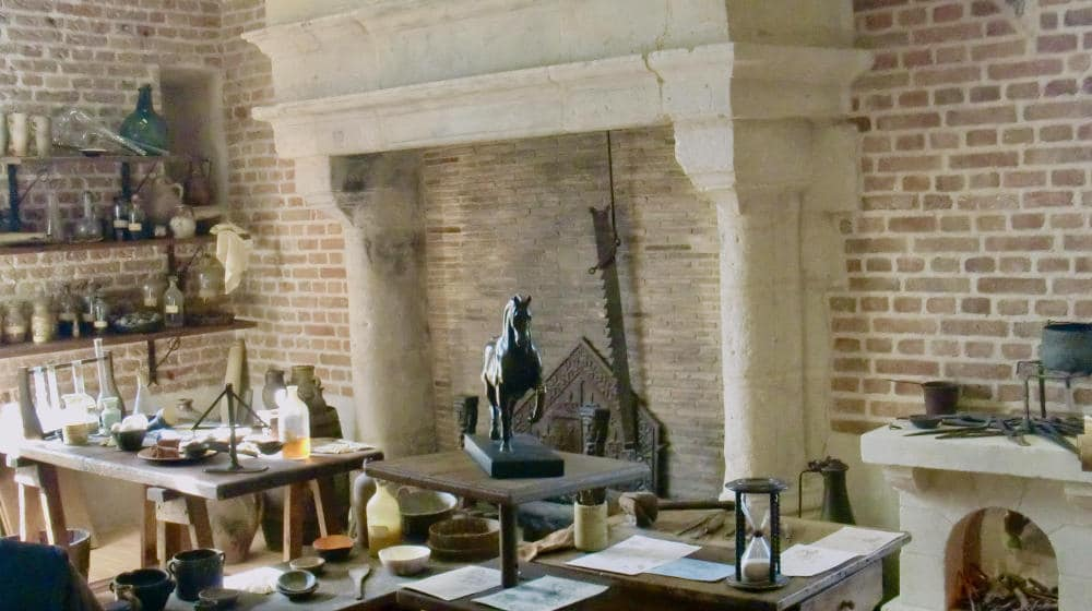 Leonardo da Vinci's office at Clos Lucé in Amboise