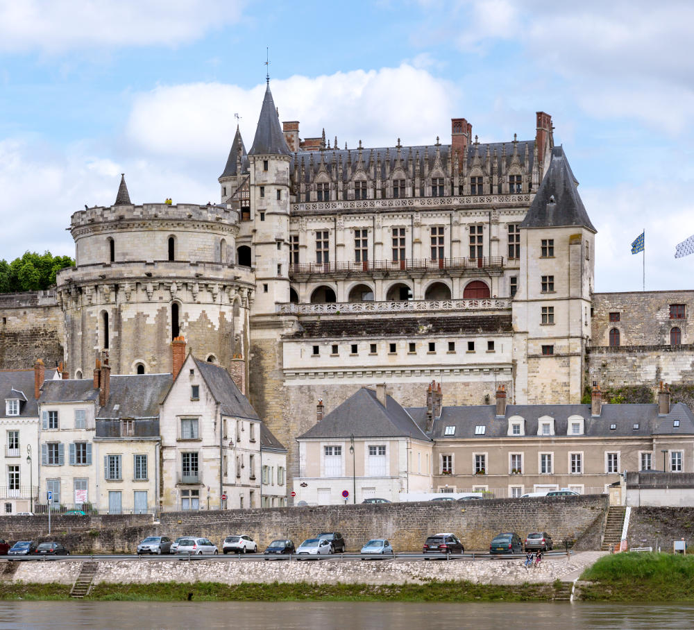 Chateau d'Amboise in the Loire valley, France