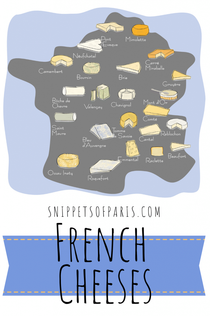 French cheese map