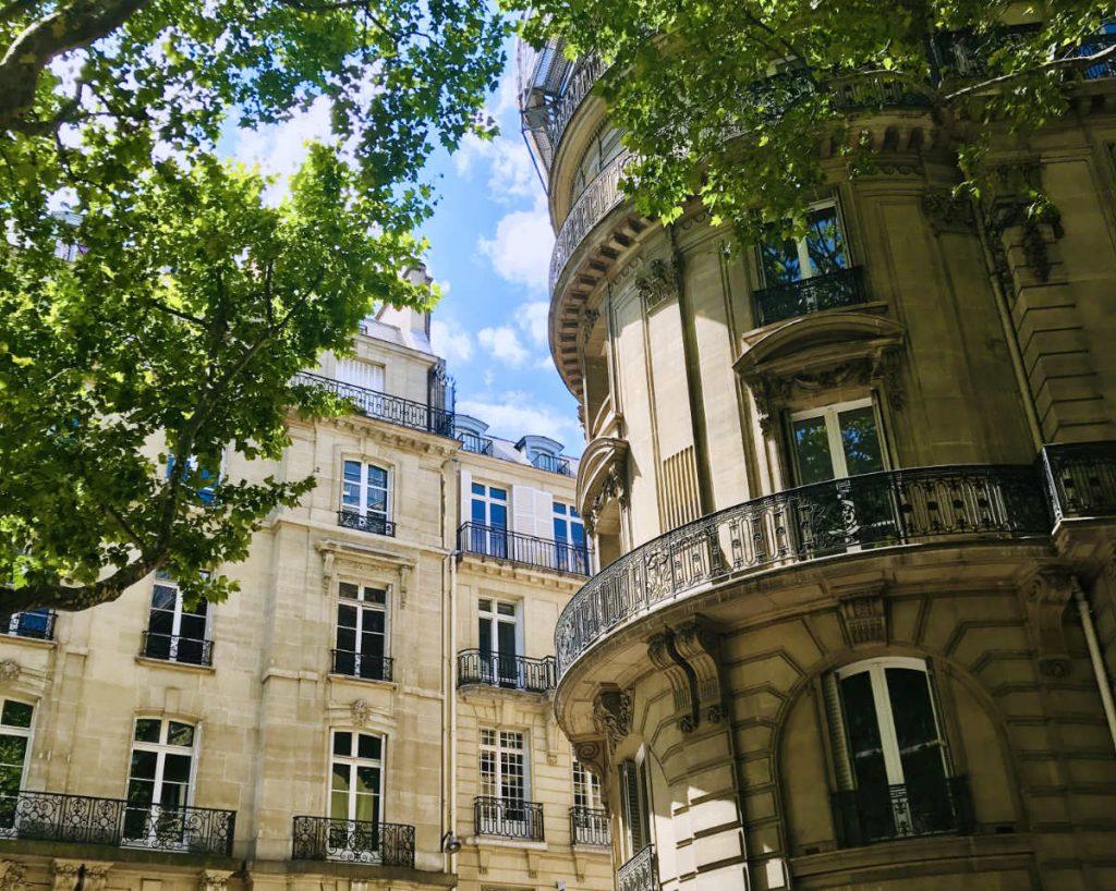 Luxury apartment buildings in  Paris