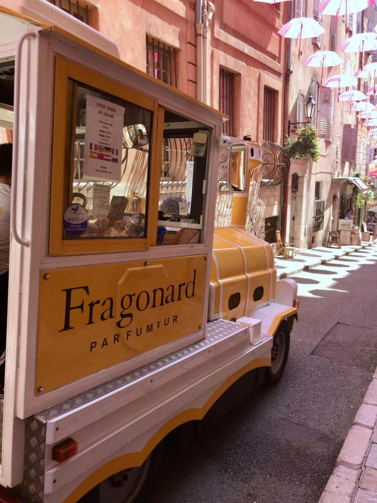 Fragonard train in Old town of Grasse