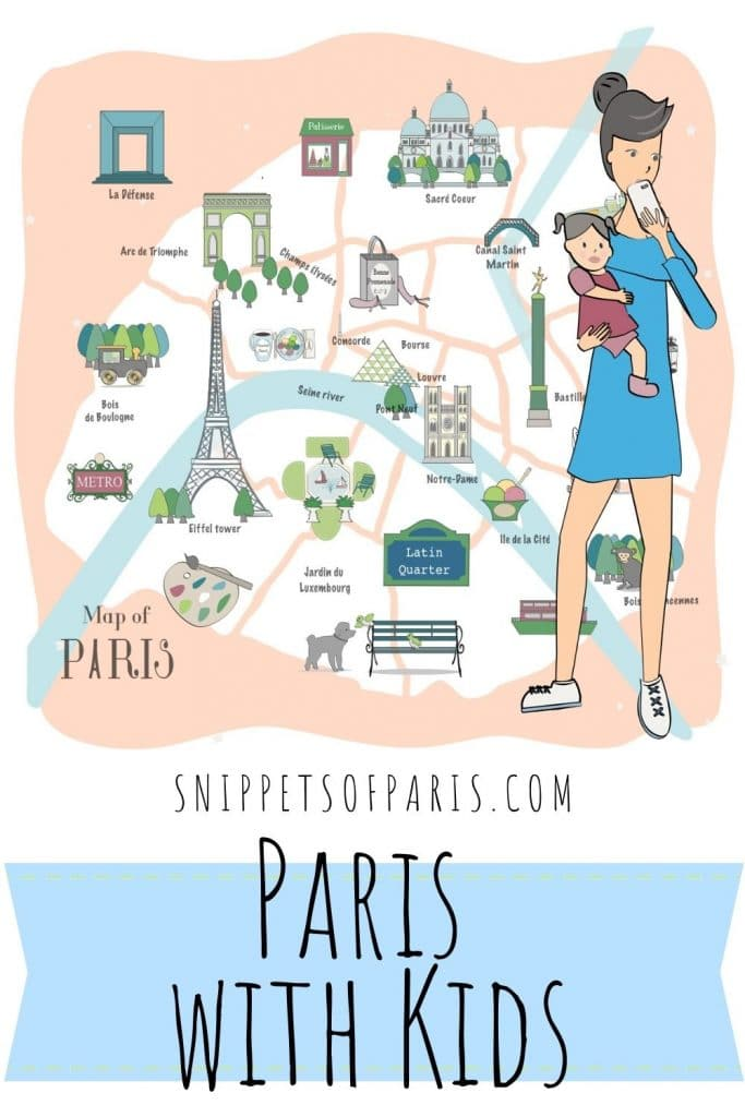 Paris with kids pin for pinterest