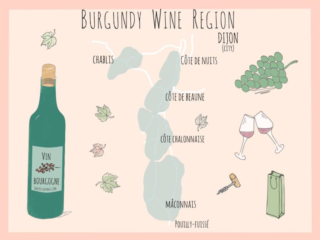 wines from burgundy region map