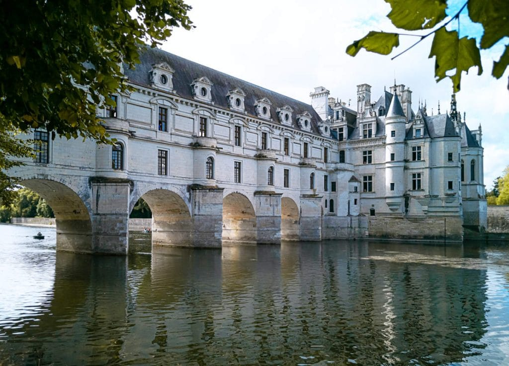 chateau chenonceau in the loire valley, france. View from the water