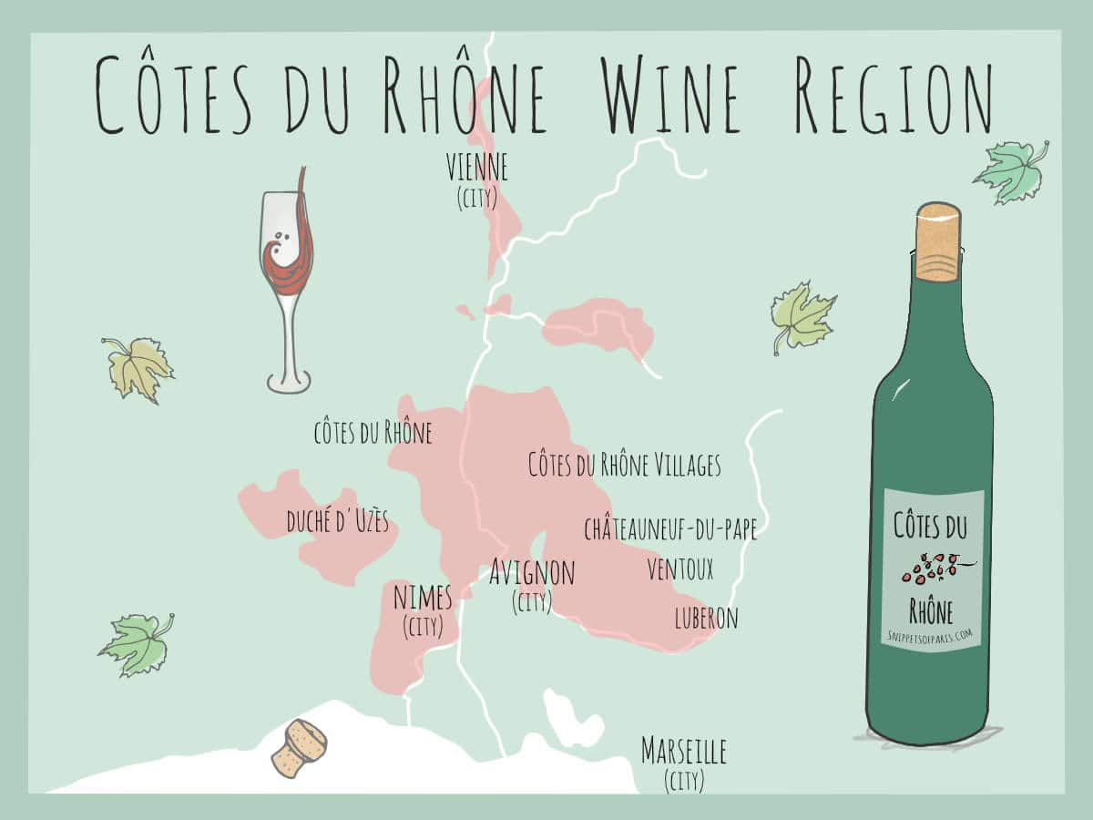 Côtes du Rhône wines: The Sun-drenched Vineyards