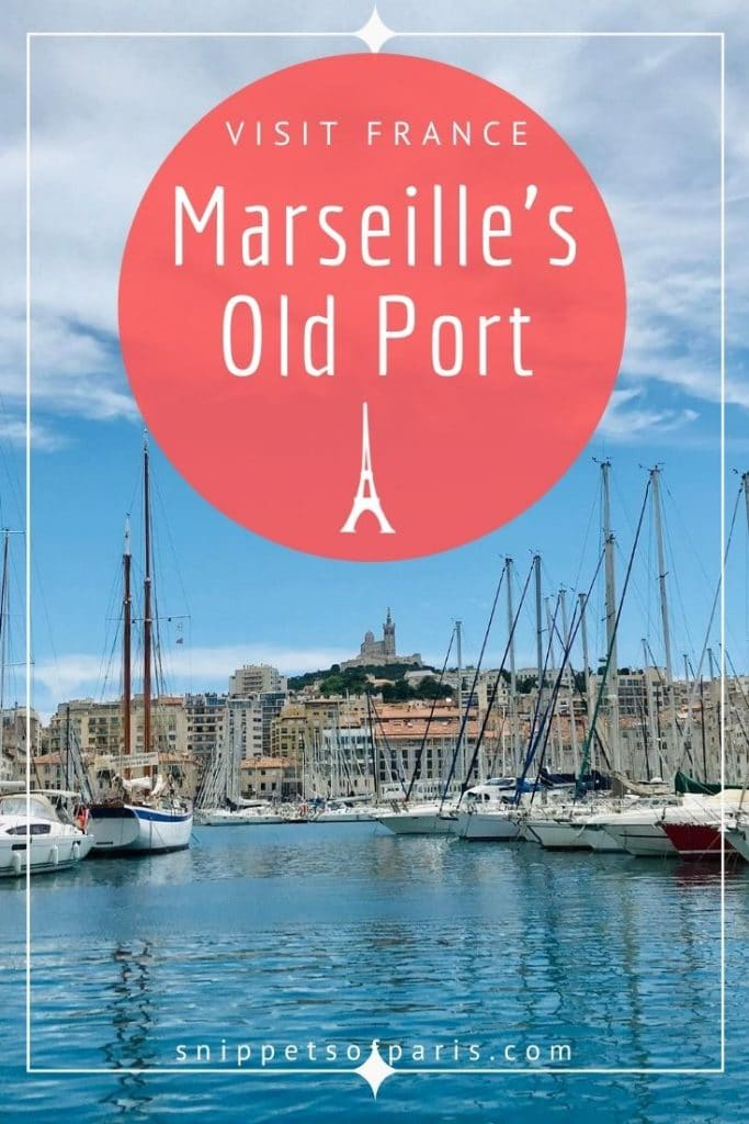 Old Port Marseille pin for pinterest