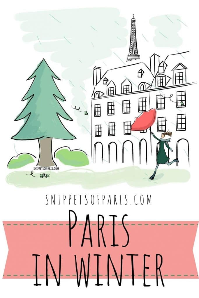 Paris in winter pin for pinterest