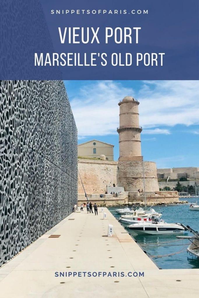 Vieux Port Marseille pin for pinterest
