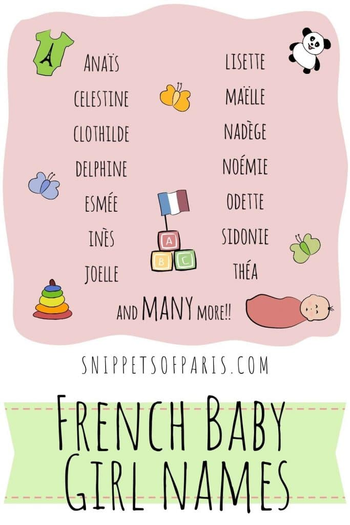 french baby girl names pin for pinterest