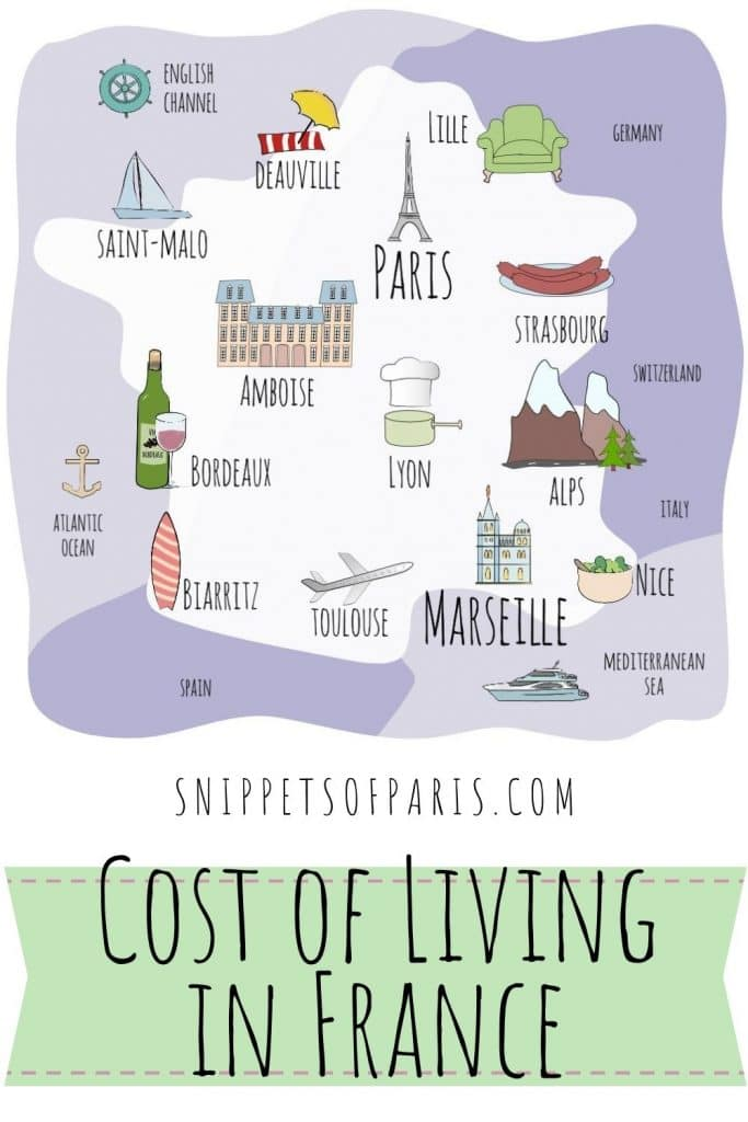 Cost of Living in France pin for pinterest