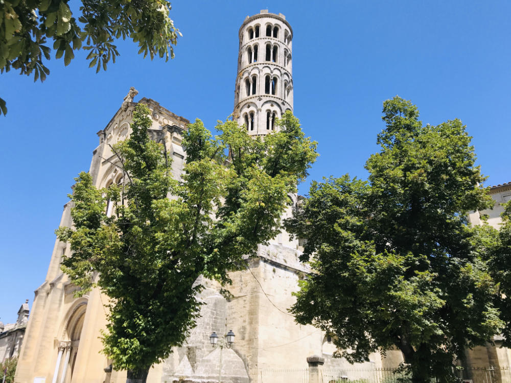 Church in the town of Uzès