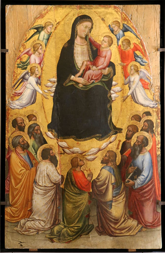The Virgin Mary and Apostles - by  Mariotto di Nardo at Musée du Petit Palais