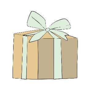 gender-neutral baby gift illustration