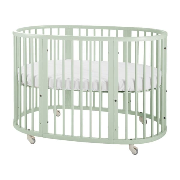 oval green cot