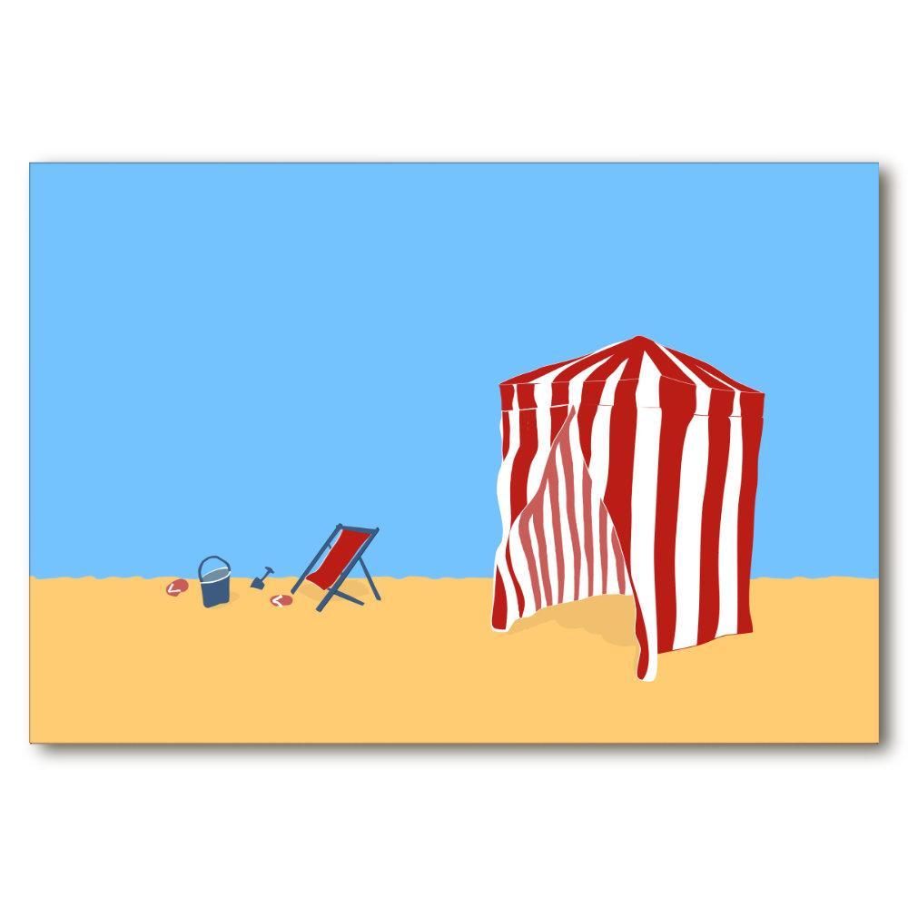 deauville beach poster