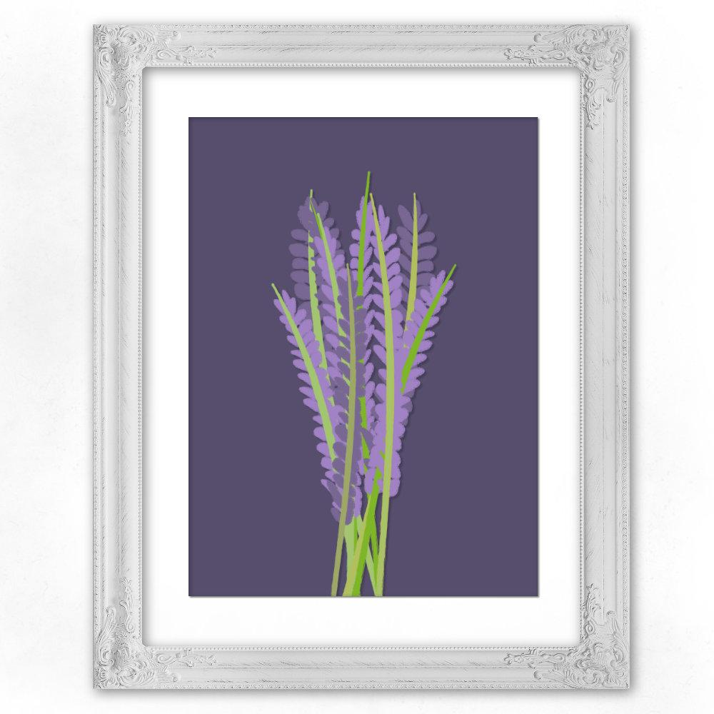 purple lavender poster