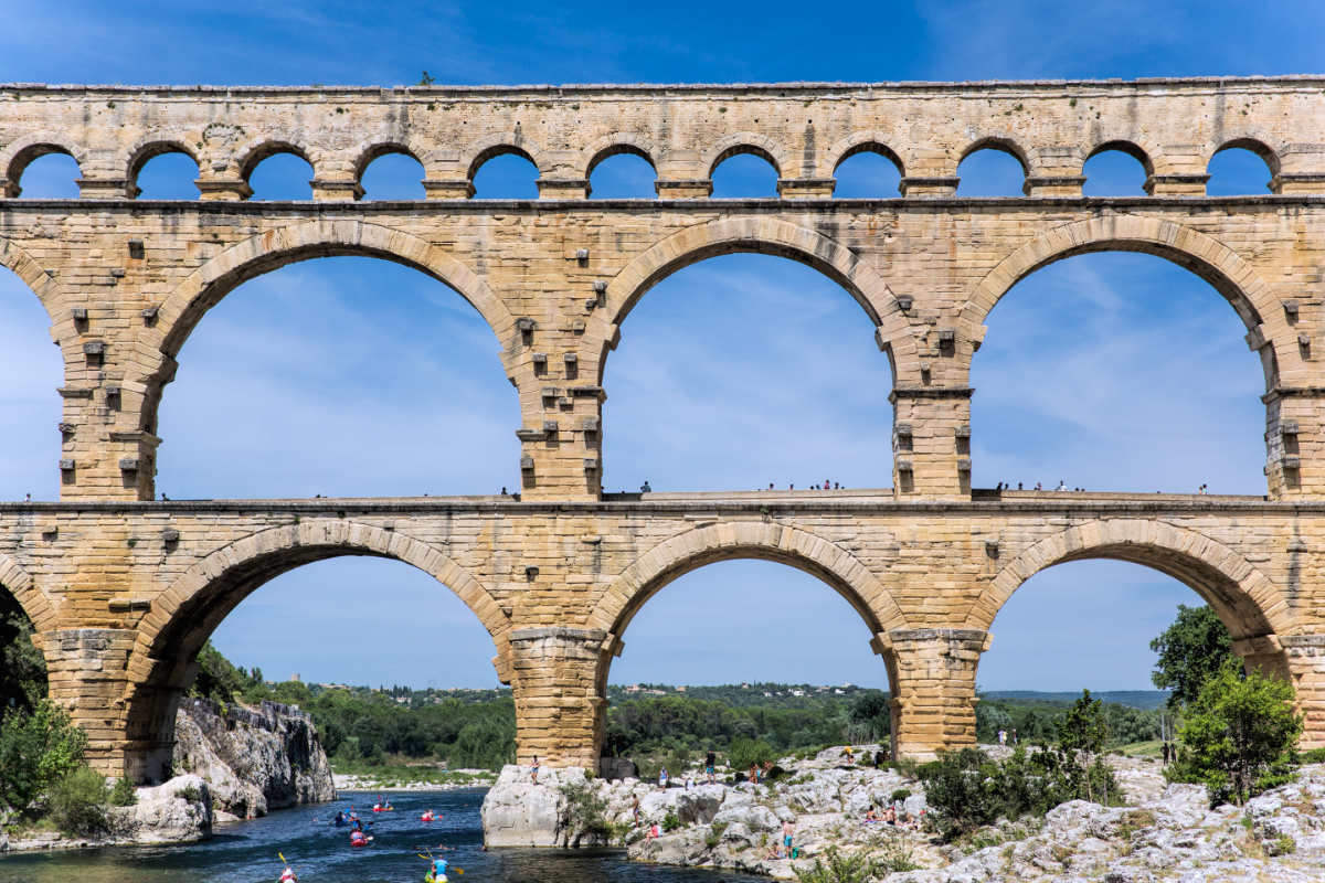 Pont du Gard near Nimes in Provence, South of France