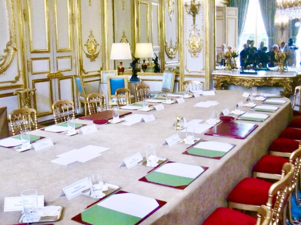 Ministers' Meeting room under President Hollande