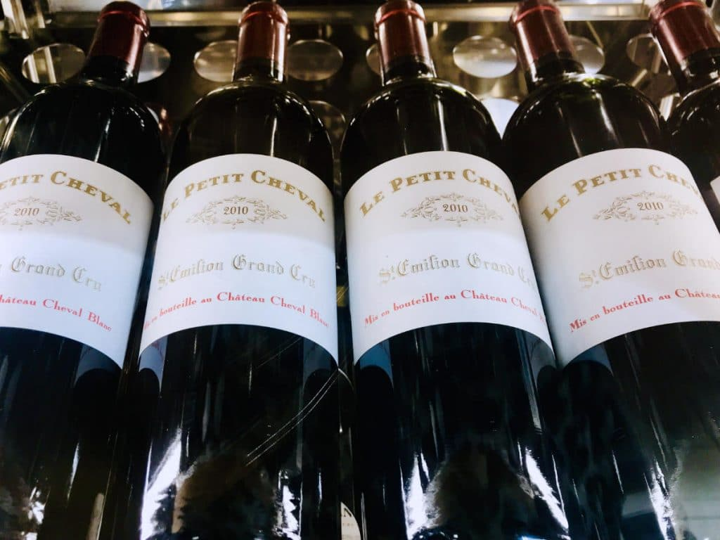 French wines in a grocery store