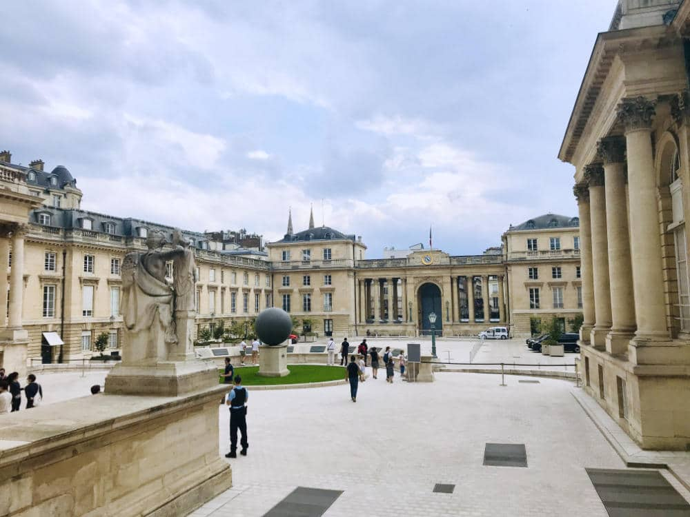 Courtyard inside Assemblée Nationale