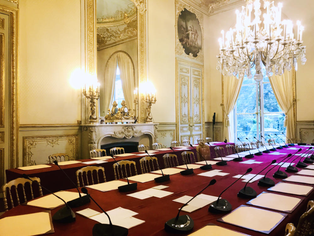 Meeting room at Assemblée Nationale