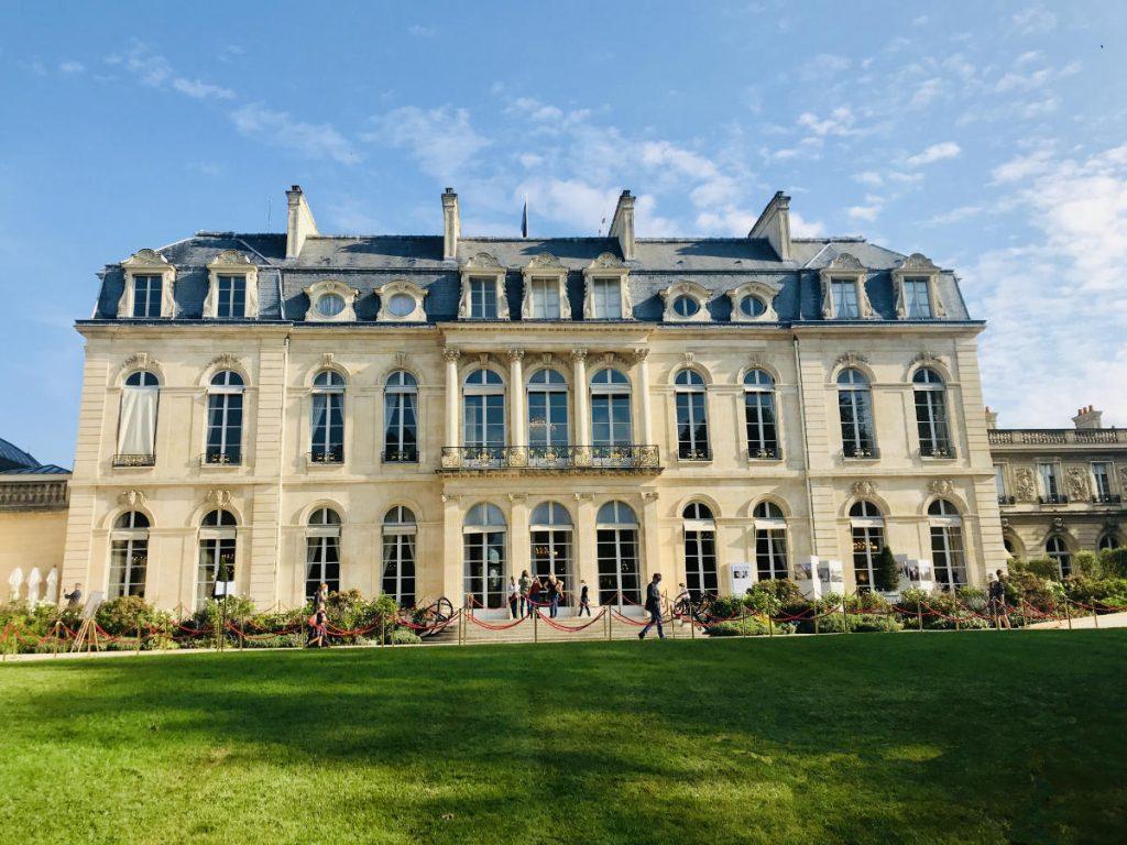 Palais Elysée from the gardens