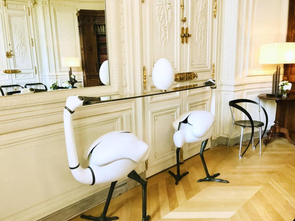 Swan table in the President's library