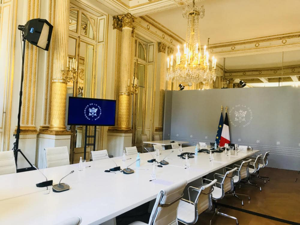 Ministers' Meeting room under President Macron