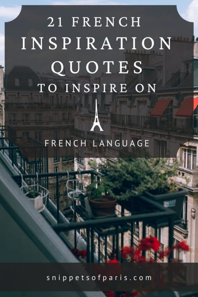 French inspiration quotes pin for pinterest