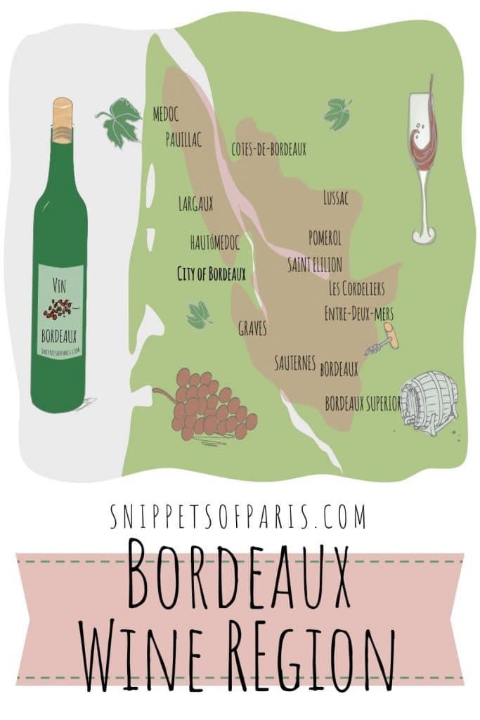 Bordeaux Wine region map