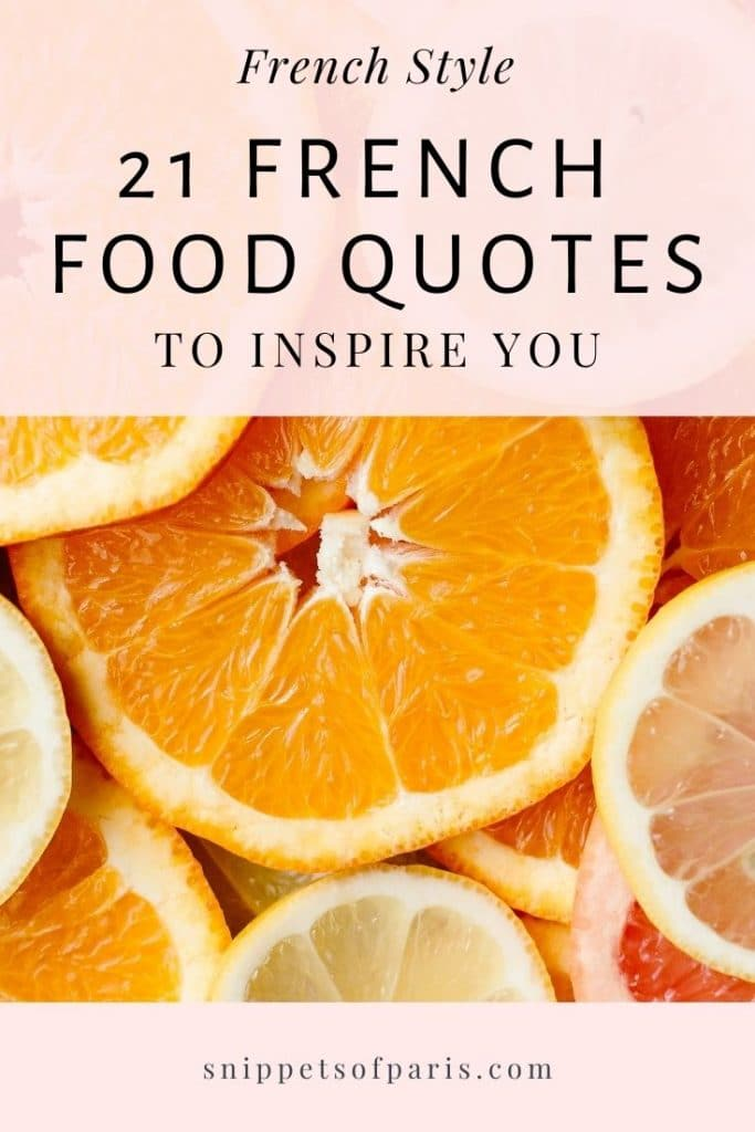french food quotes : pin for pinterest
