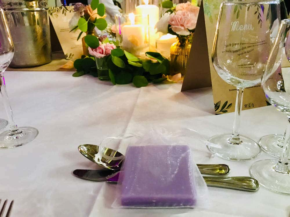 Party favors at a French wedding