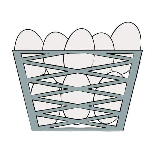 basket of eggs illustration