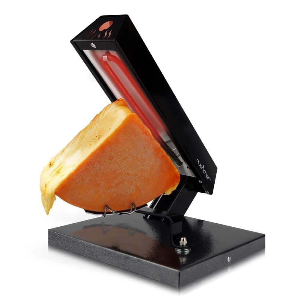 raclette grills in restaurants (with half-round of cheese)
