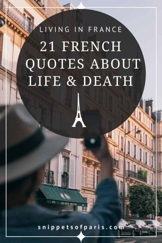 French quotes about life and death - pin for pinterest