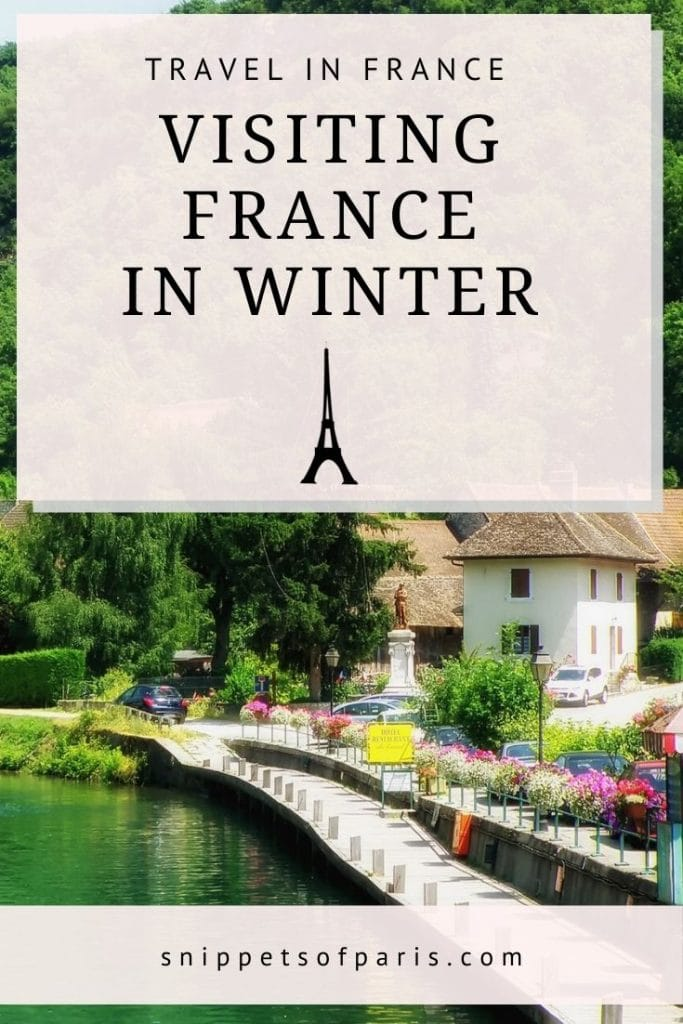 france in winter - pin for pinterest