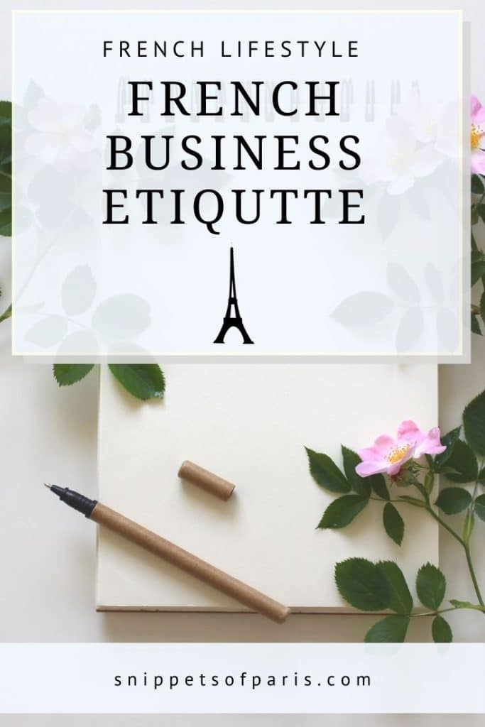 french business etiquette - pin for pinterest