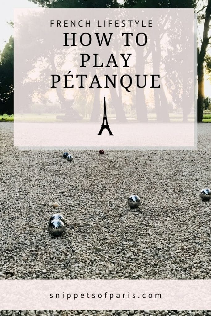 playing petanque - pin for pinterest