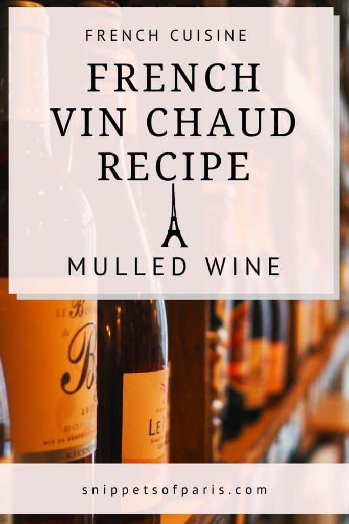 vin chaud recipe - pin for pinterest