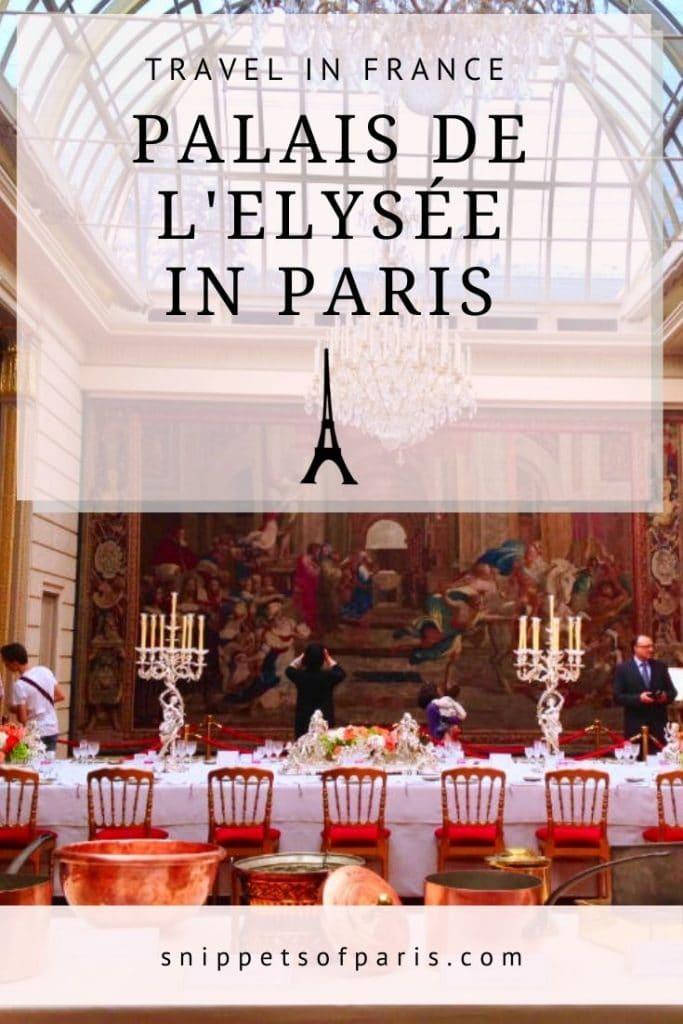 Palais de l'Elysée - pin for pinterest