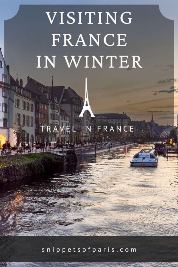 france in winter - pin for pinterest