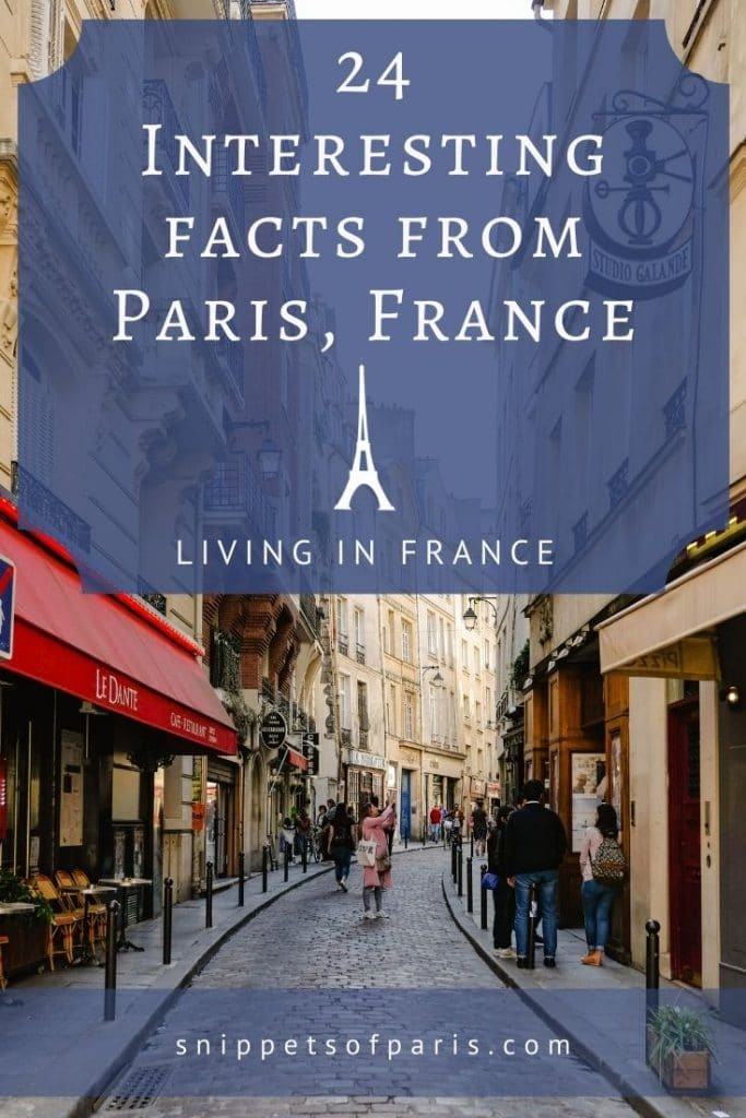 Facts about Paris - pin to pinterest