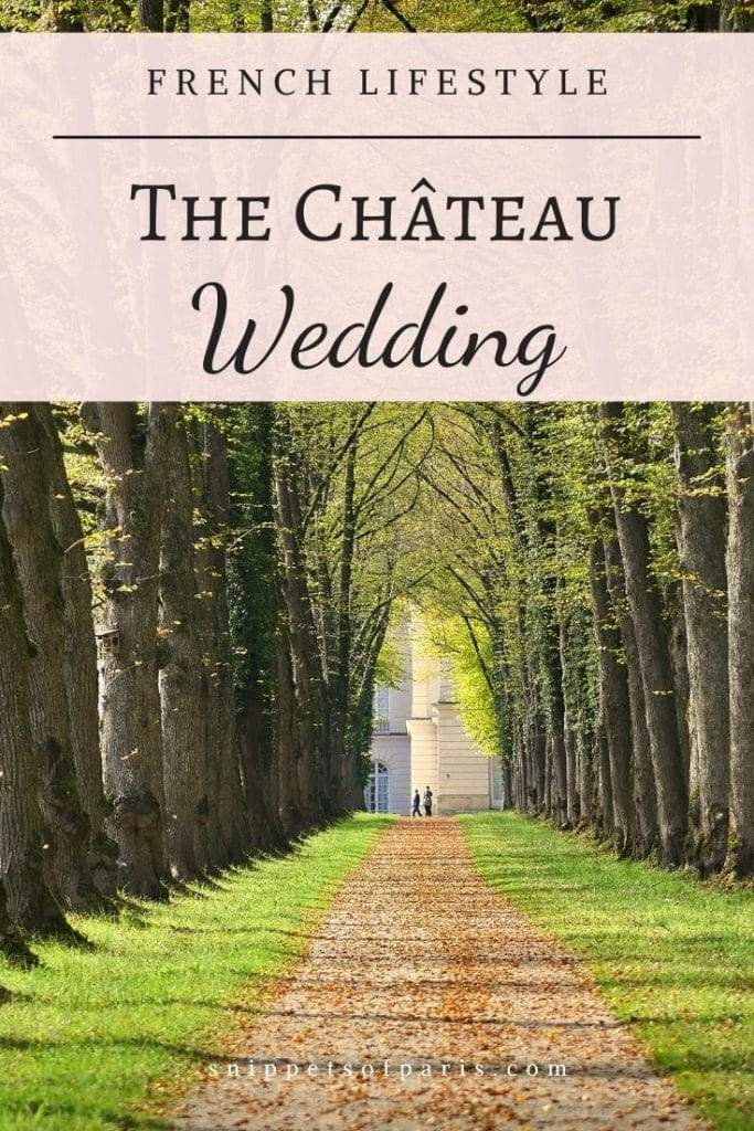 Chateau wedding in France - pin to pinterest