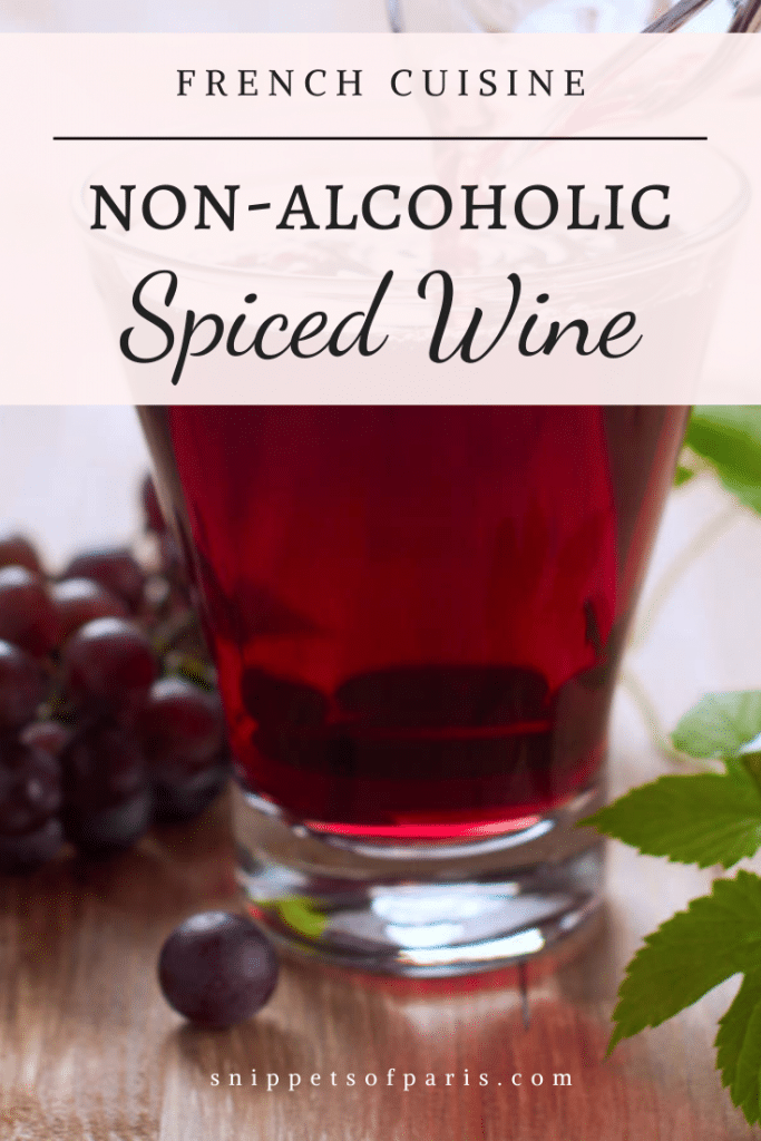 non alcoholic spiced wine - pin for pinterest