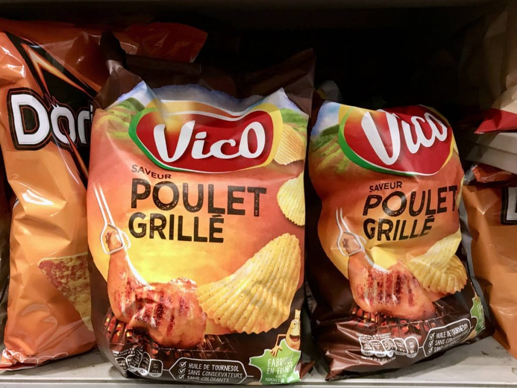 Grilled Chicken flavored chips in France